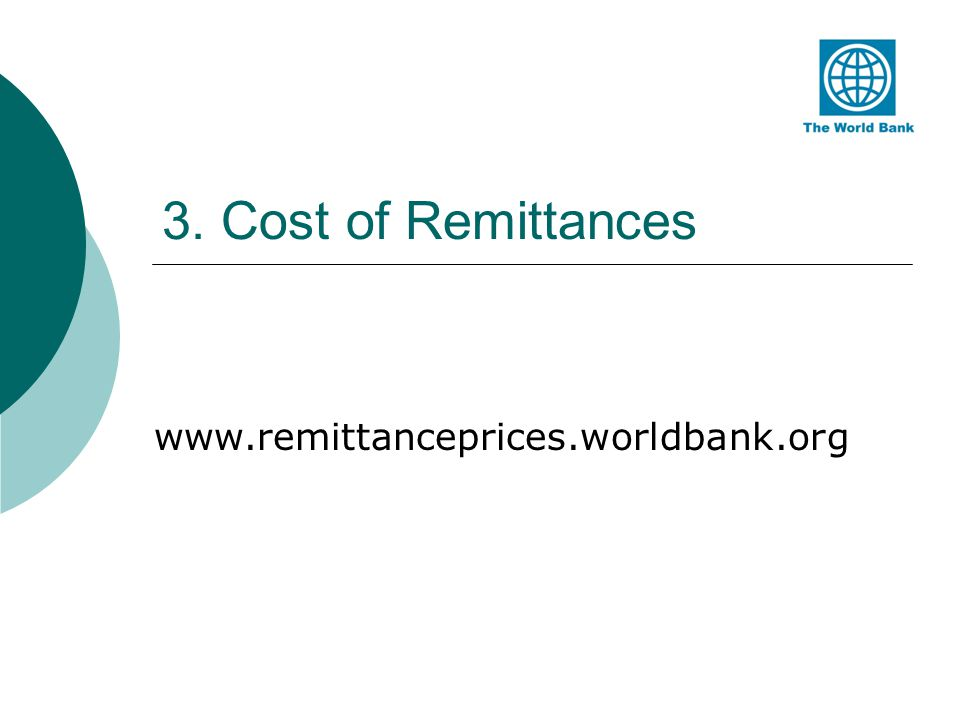 3. Cost of Remittances