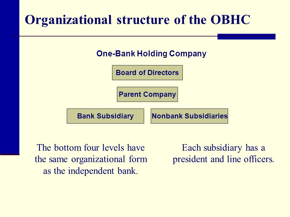 Organizational structure of the OBHC