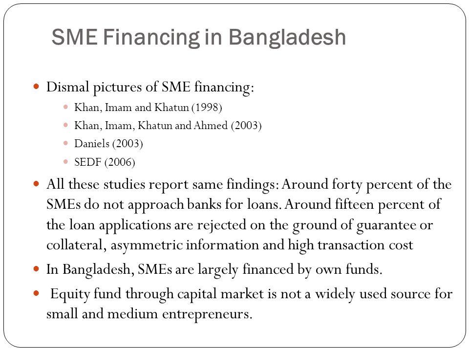 SME Financing in Bangladesh