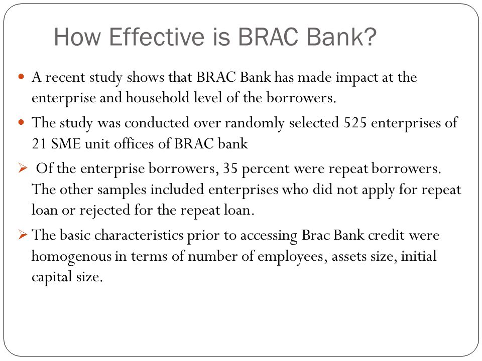 How Effective is BRAC Bank