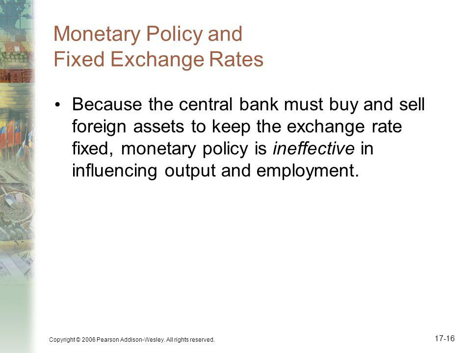 Monetary Policy and Fixed Exchange Rates