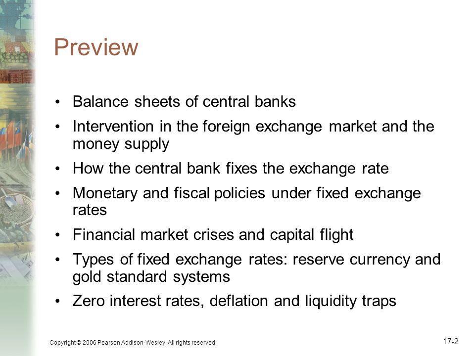 Preview Balance sheets of central banks