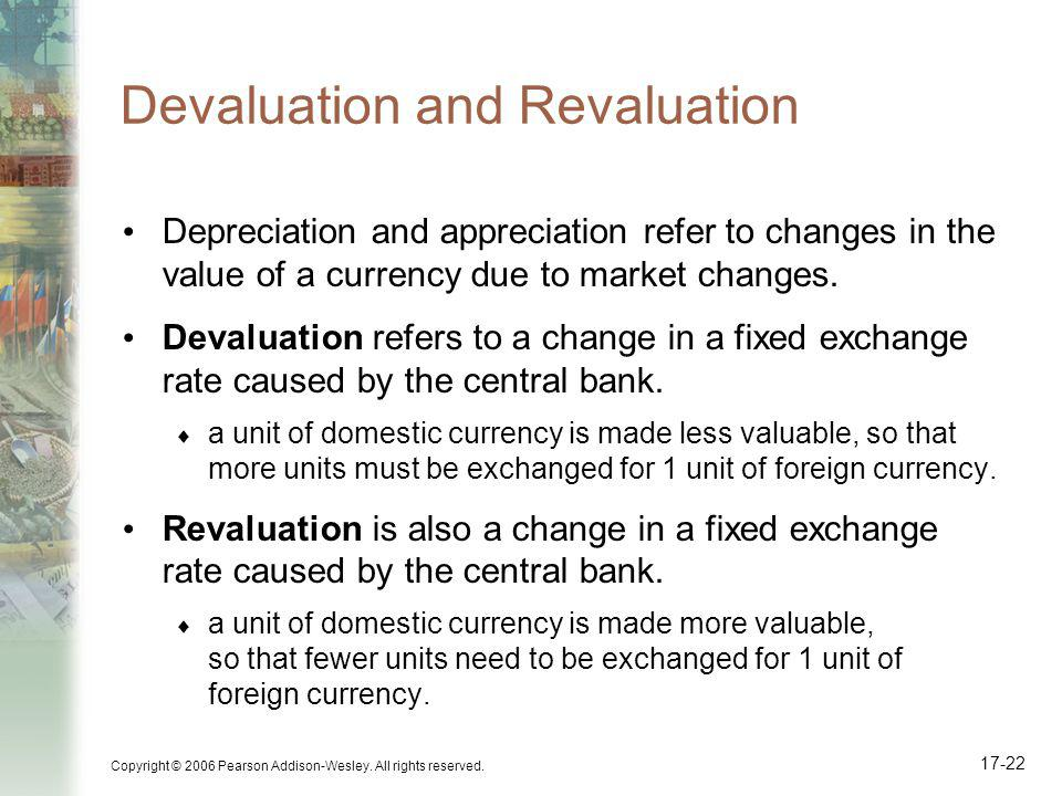 devaluation vs revaluation Background to depreciation vs devaluation of the same by government dictate as there will be fear that such revaluation can backfire and put the.