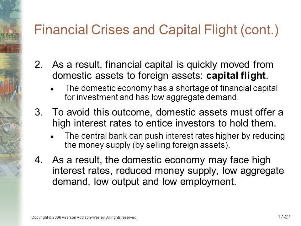 Financial Crises and Capital Flight (cont.)