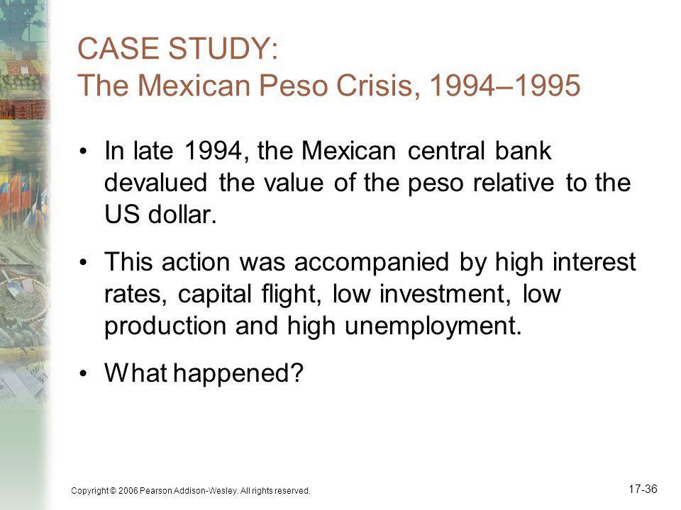 CASE STUDY: The Mexican Peso Crisis, 1994–1995
