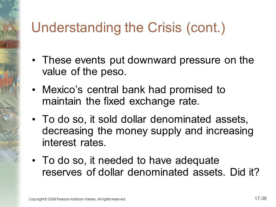 Understanding the Crisis (cont.)
