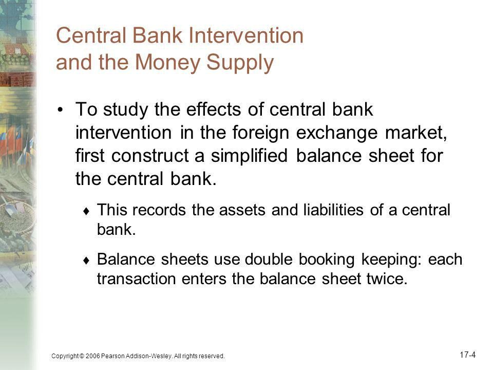 Central Bank Intervention and the Money Supply