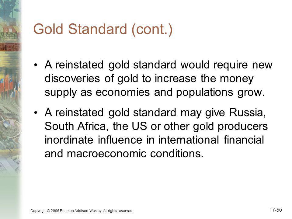 Gold Standard (cont.)