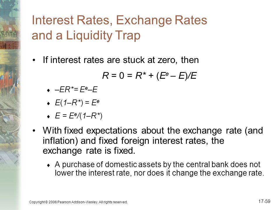 Interest Rates, Exchange Rates and a Liquidity Trap