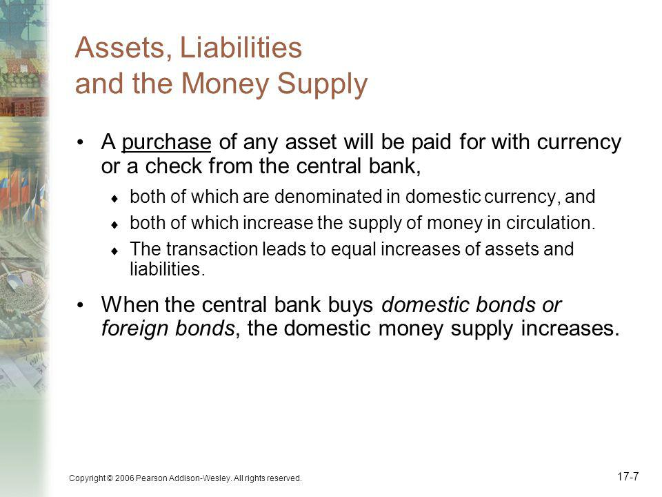 Assets, Liabilities and the Money Supply
