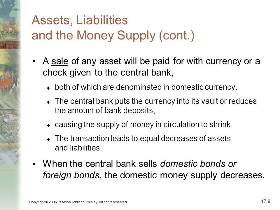Assets, Liabilities and the Money Supply (cont.)