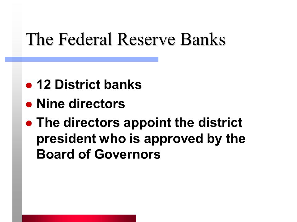 The Federal Reserve Banks