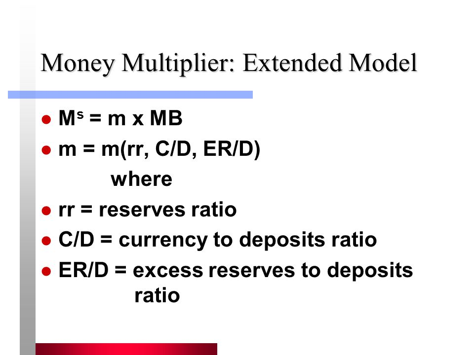 Money Multiplier: Extended Model