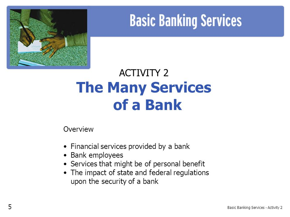 Basic Banking Services - Activity 2