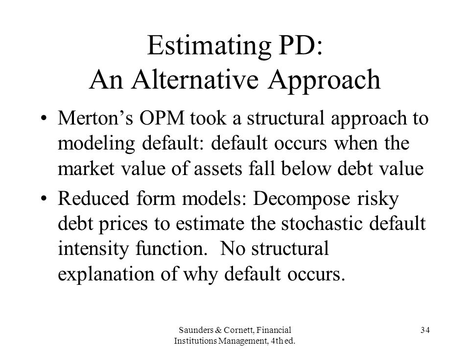Estimating PD: An Alternative Approach