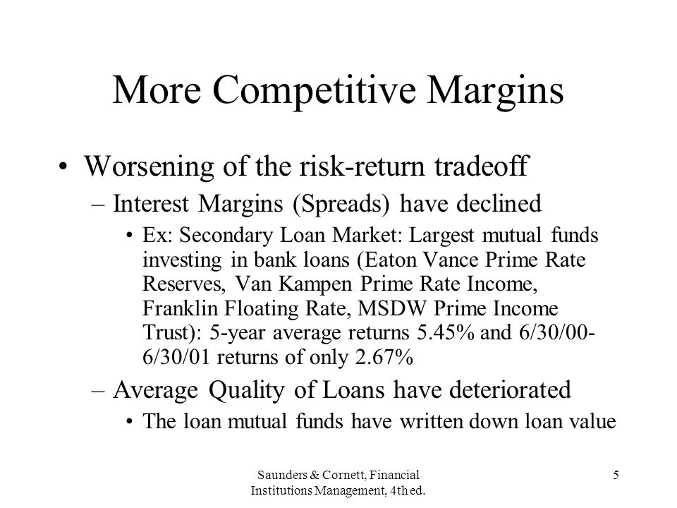 More Competitive Margins