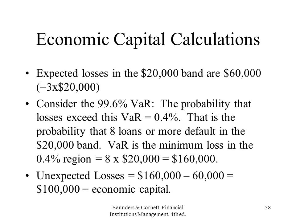 Economic Capital Calculations