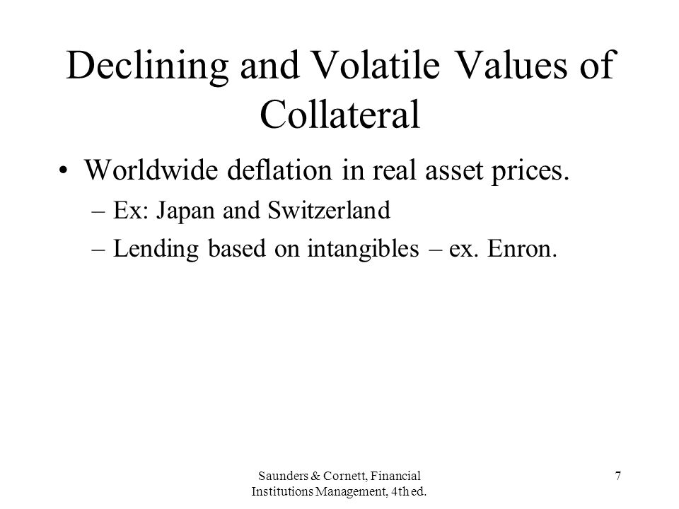 Declining and Volatile Values of Collateral