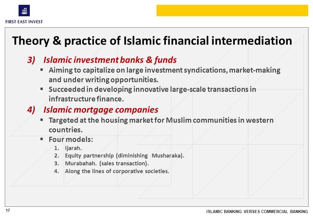 islamic financial intermediation equity efficiency and The determinants efficiency and profitability of world islamic banks professor dr nor hayati ahmad a universiti utara malaysia a professor of banking and risk management, college of.