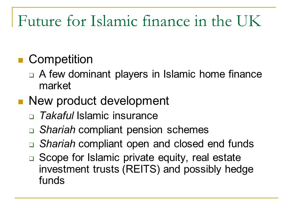 Future for Islamic finance in the UK
