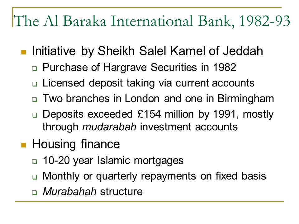 The Al Baraka International Bank, 1982-93