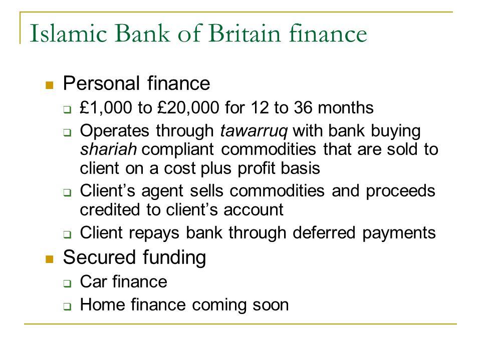 Islamic Bank of Britain finance