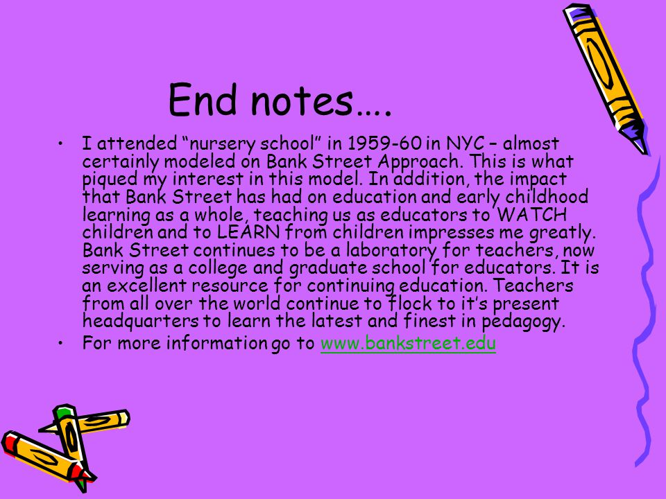 End notes….