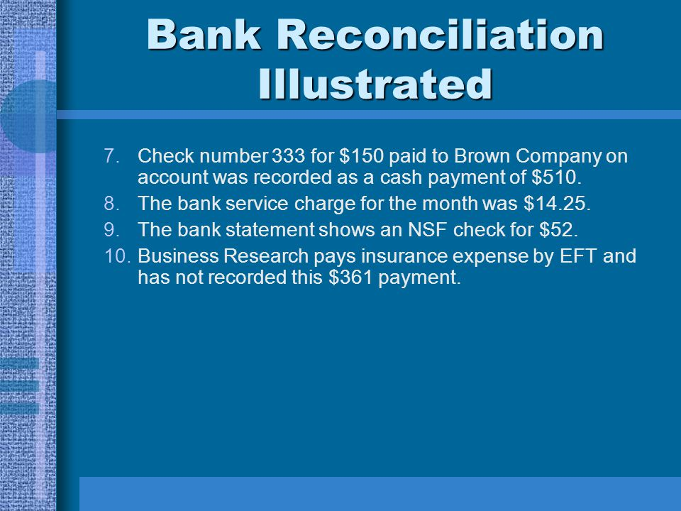 Bank Reconciliation Illustrated