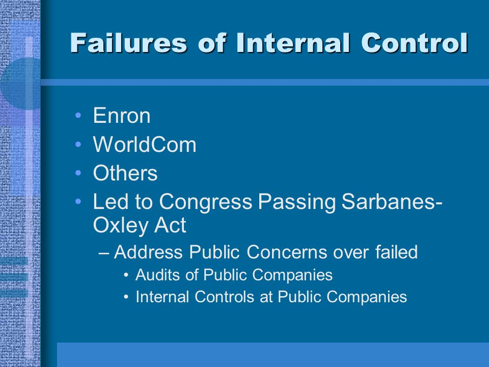 Failures of Internal Control