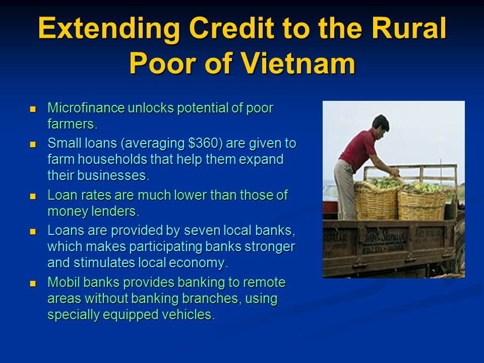 Extending Credit to the Rural Poor of Vietnam