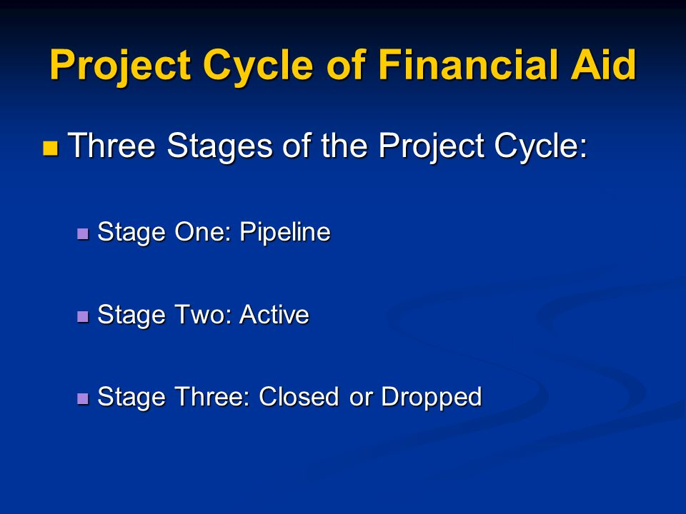 Project Cycle of Financial Aid