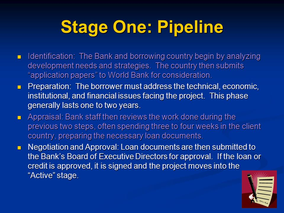 Stage One: Pipeline
