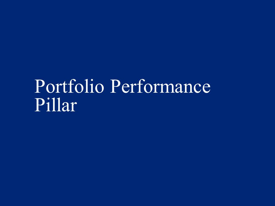 Portfolio Performance Pillar