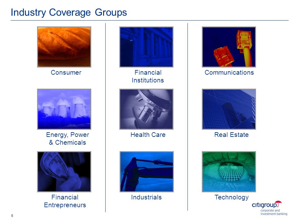 Industry Coverage Groups