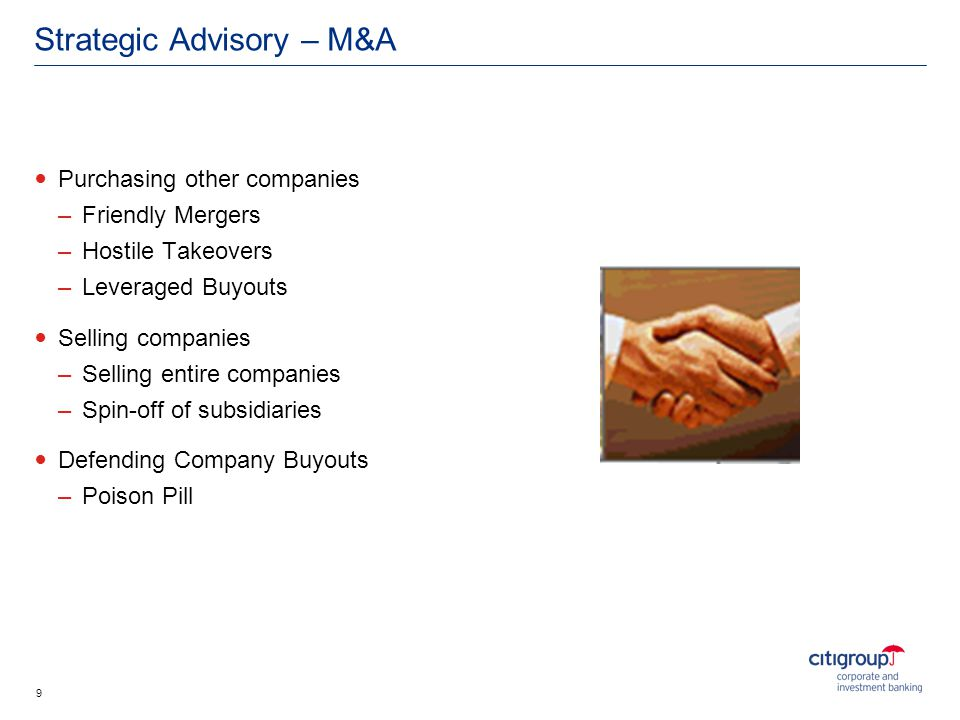 Strategic Advisory – M&A