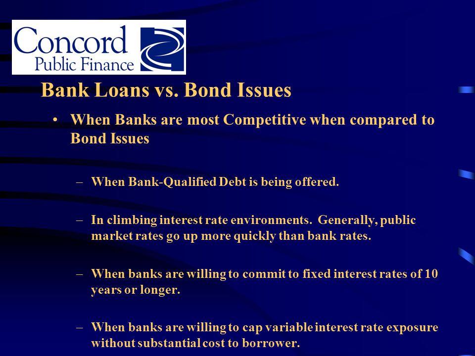 Bank Loans vs. Bond Issues