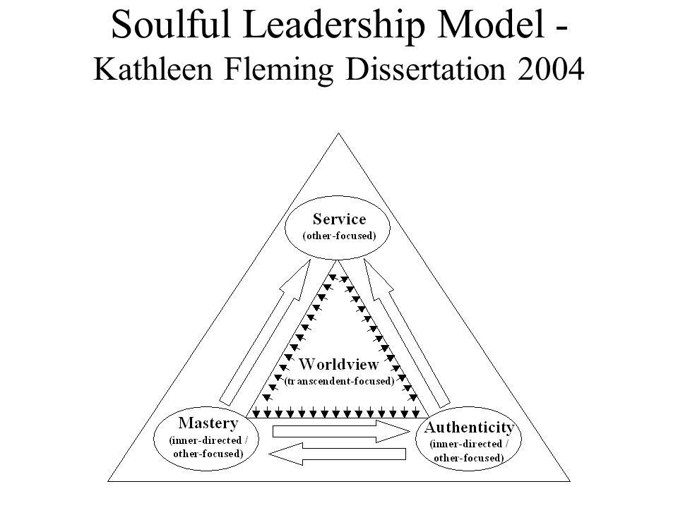 Soulful Leadership Model - Kathleen Fleming Dissertation 2004