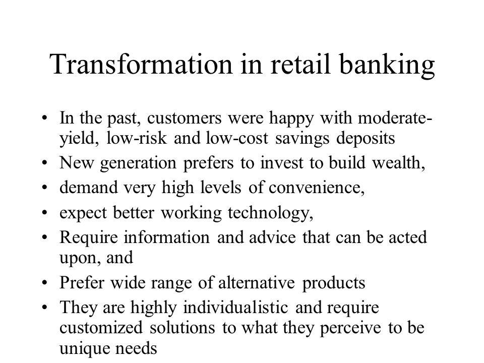 Transformation in retail banking
