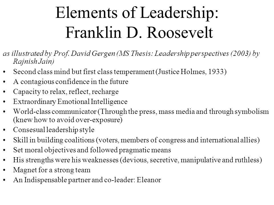 Elements of Leadership: Franklin D. Roosevelt