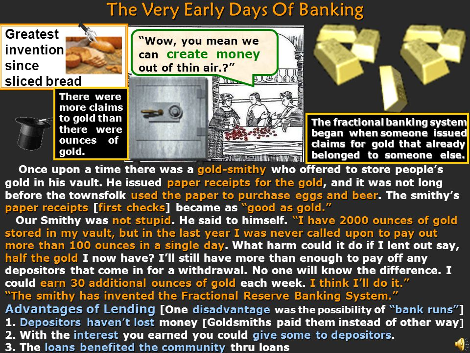 The Very Early Days Of Banking