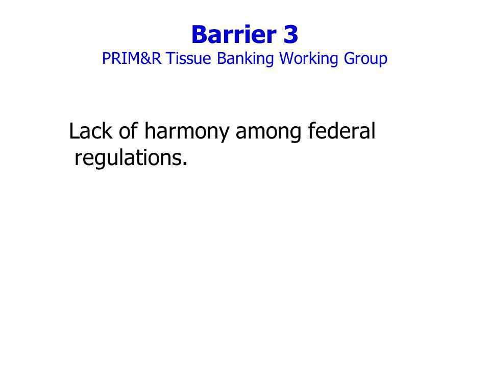 Barrier 3 PRIM&R Tissue Banking Working Group