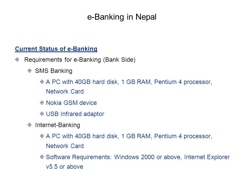 e-Banking in Nepal Current Status of e-Banking