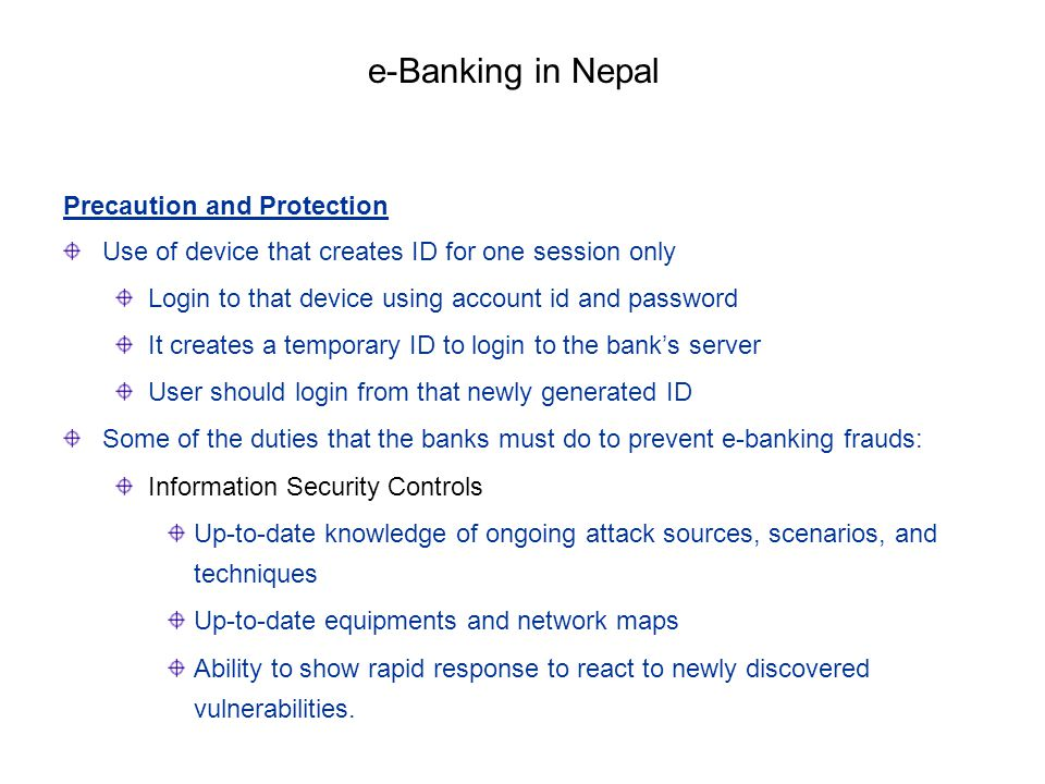 e-Banking in Nepal Precaution and Protection