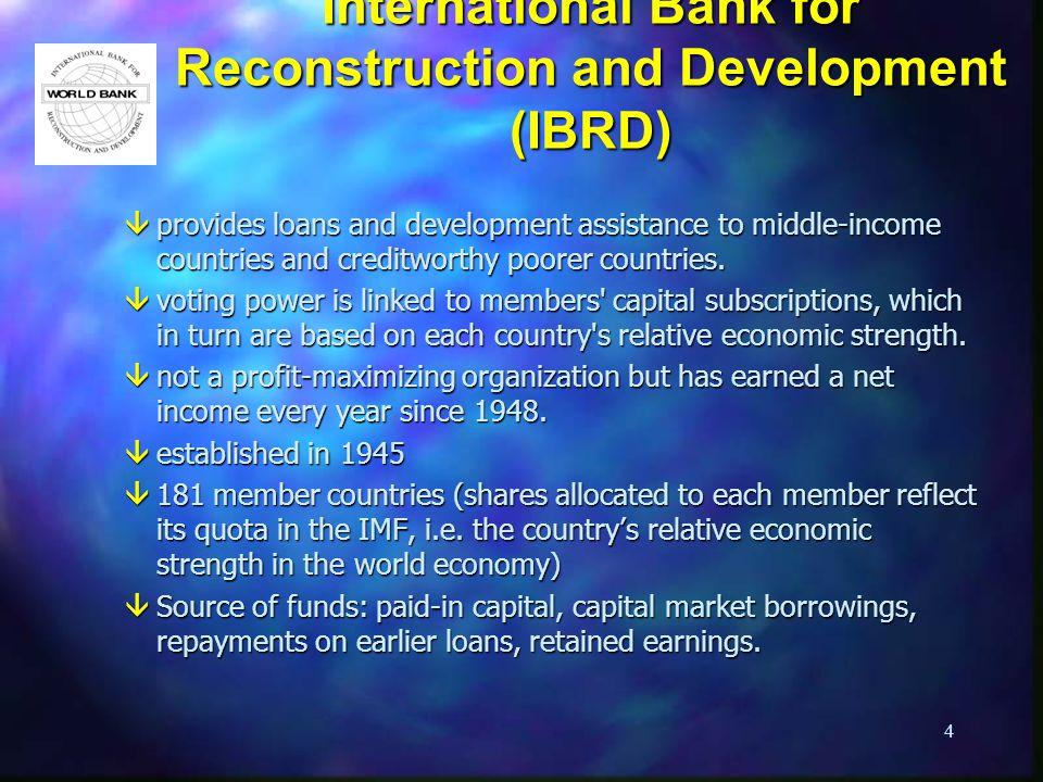 International Bank for Reconstruction and Development (IBRD)