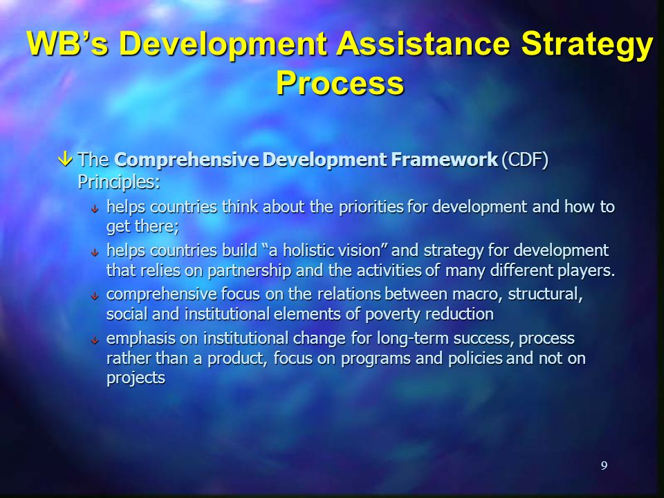 WB's Development Assistance Strategy Process