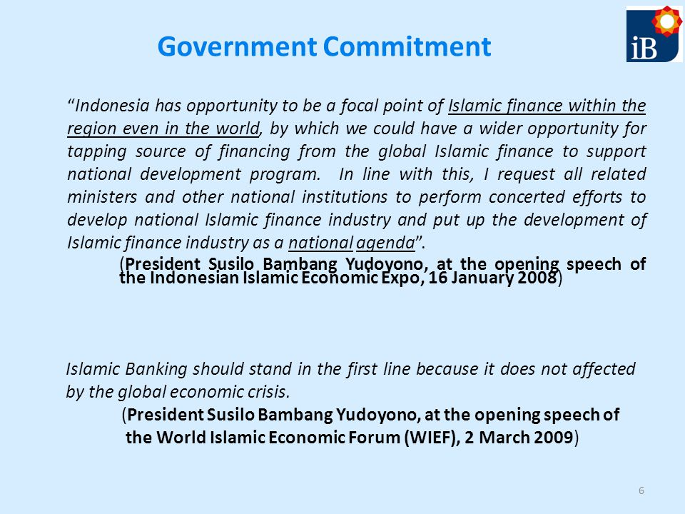 Recent development of islamic banking in indonesia ppt video government commitment malvernweather Gallery