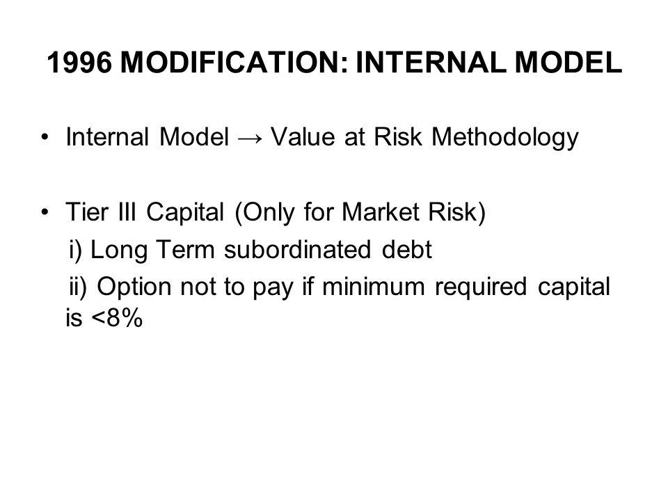 1996 MODIFICATION: INTERNAL MODEL