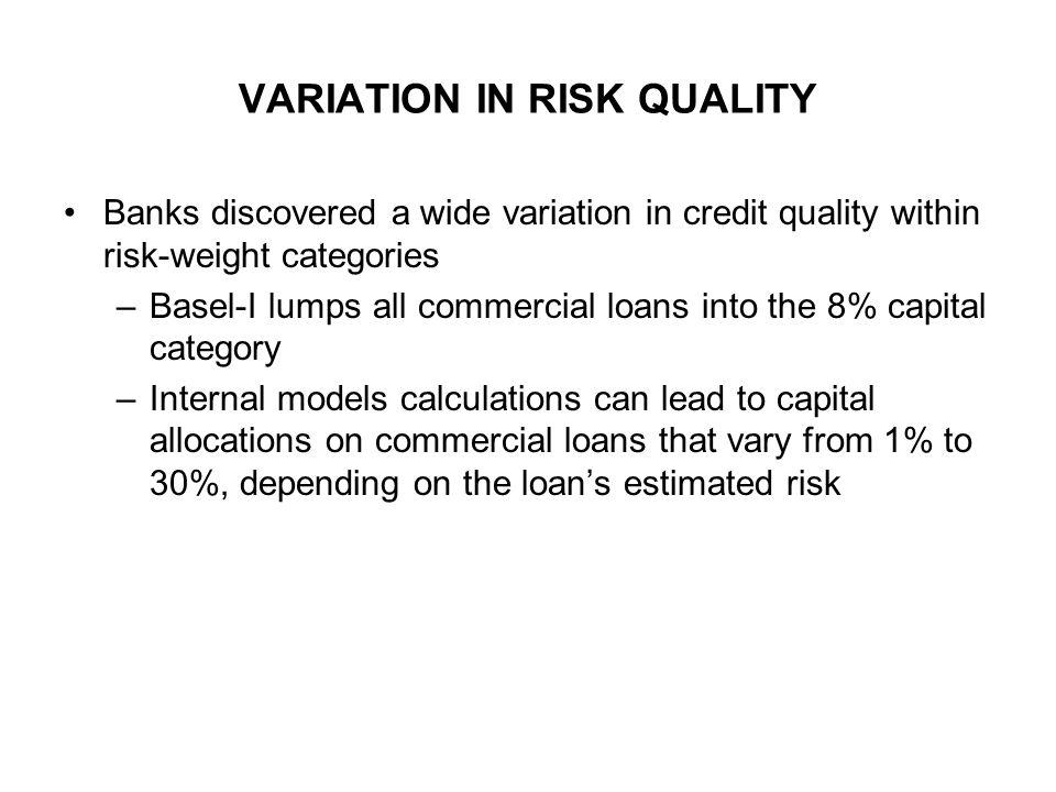 VARIATION IN RISK QUALITY