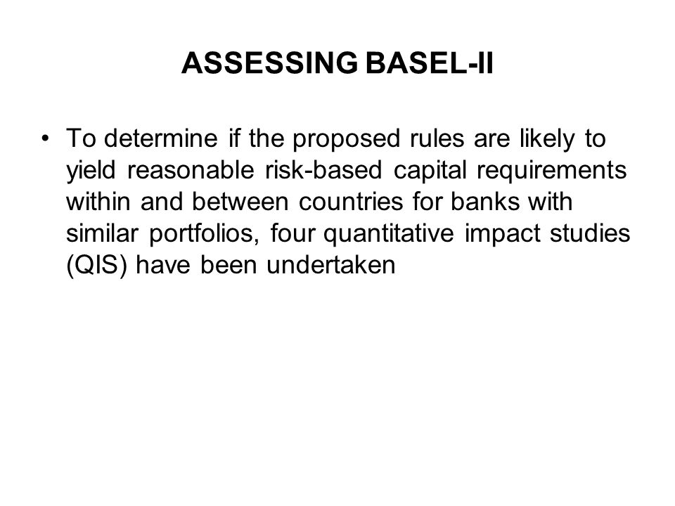 ASSESSING BASEL-II