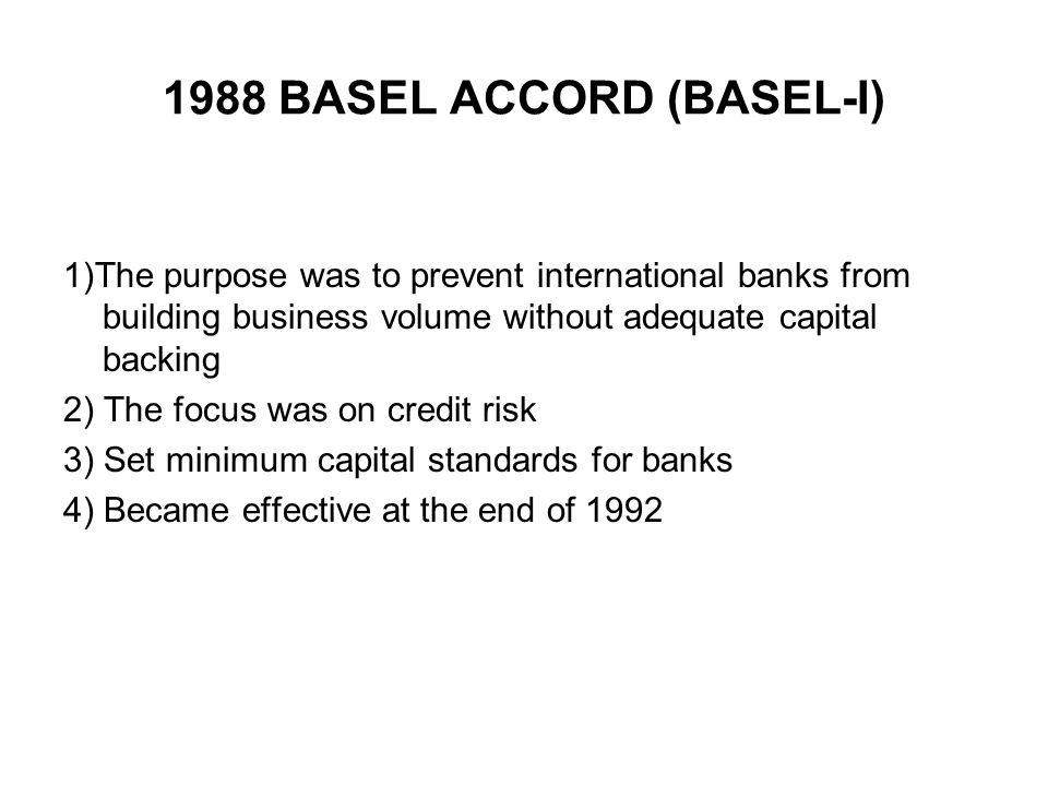 1988 BASEL ACCORD (BASEL-I)